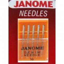Janome - Janome 15x1 Leather Deri Aile Makina İğnesi (5'li Paket)