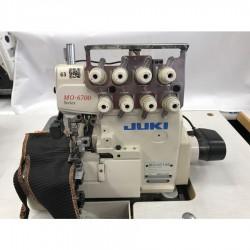Juki - Juki MO-6714S-BE6-44H/G39/Q141 Havalı 4 İplik Overlok - Efka Motor - 2.El