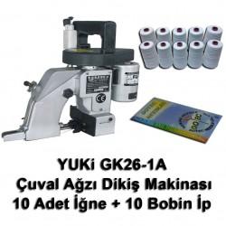 YUKI - Yuki GK26-1A Çuval Ağzı Dikme Makinası + 10 Adet İğne + 10 Bobin İp