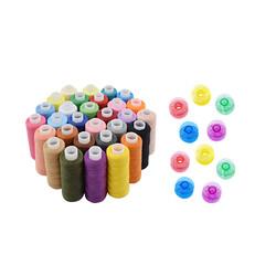 Diğer - 10 Adet Renkli Dikiş ipliği ve 10 Renkli Masura Paketi