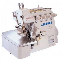 Juki - Juki MO-6714S-BE6-44H/G39/Q141/LB6/AB2/IPG 4 İplik, Yarı Otomatik Kıstırmalı Overlok Makinası