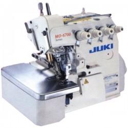 Juki - Juki MO-6716S-FF6-40H/MO77 5 İplik, İki İğne, Zincir Temiz, Biye Cep Torbası Overlok Makinası