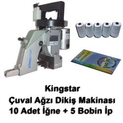 Kingstar - Kingstar Çuvalağzı Dikiş Makinası + 10 Adet İğne + 5 Bobin İp