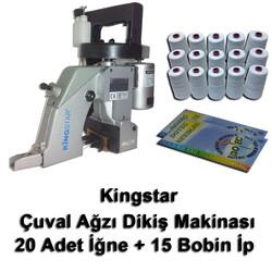 Kingstar - Kingstar Çuvalağzı Dikiş Makinası + 20 Adet İğne + 15 Bobin İp