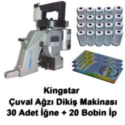 Kingstar - Kingstar Çuvalağzı Dikiş Makinası + 30 Adet İğne + 20 Bobin İp