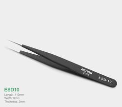 Kingstar - Kingstar ESD-10 Anti-Statik Paslanmaz Çelik Cımbız – Siyah