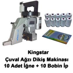 Kingstar - Kingstar GK26-1A Çuvalağzı Dikme Makinası + 10 Adet İğne + 10 Bobin İp