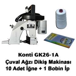 KONTi - Konti GK26-1A Çuval Ağzı Dikiş Makinası + 10 Adet İğne + 1 Bobin İp