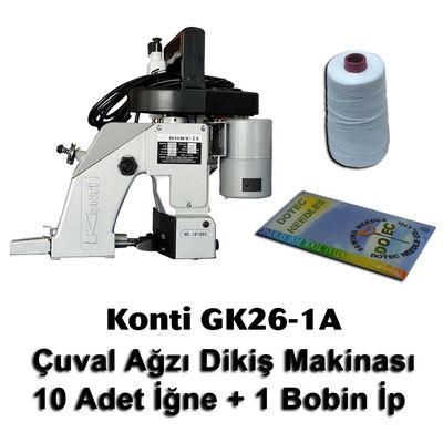 Konti GK26-1A Çuval Ağzı Dikiş Makinası + 10 Adet İğne + 1 Bobin İp