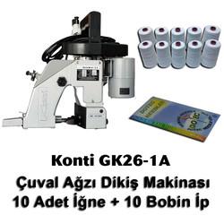 KONTi - Konti GK26-1A Çuval Ağzı Dikiş Makinası + 10 Adet İğne + 10 Bobin İp