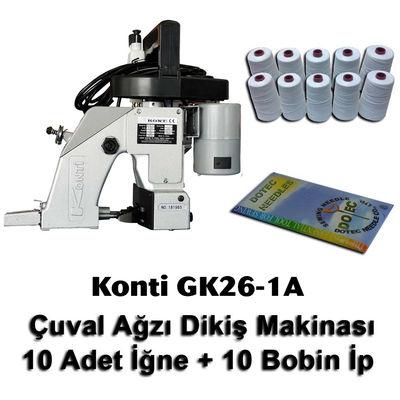 Konti GK26-1A Çuval Ağzı Dikiş Makinası + 10 Adet İğne + 10 Bobin İp
