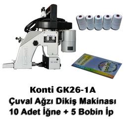 KONTi - Konti GK26-1A Çuval Ağzı Dikiş Makinası + 10 Adet İğne + 5 Bobin İp