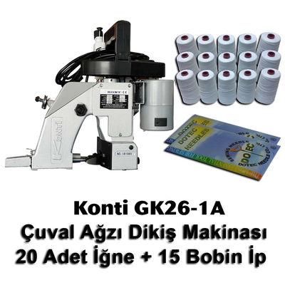 Konti GK26-1A Çuval Ağzı Dikiş Makinası + 20 Adet İğne + 15 Bobin İp