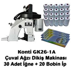 KONTi - Konti GK26-1A Çuval Ağzı Dikiş Makinası + 30 Adet İğne + 20 Bobin İp