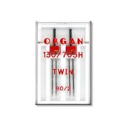 Organ - Organ 130/705 H-80 Çiftiğne (Nervür Aile Makina İğnesi-2'li)