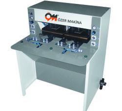 Özer Makina - Özer Makina OM-201 Tam/Yarı Otomatik Çift Baskılı Yaka Form Presi