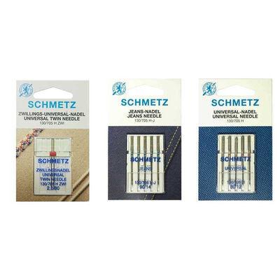 Schmetz 7 Paket İğne (Çiftiğne, Standart İğne ve Kot İğnesi)