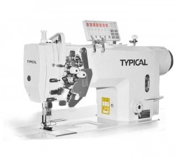 Typical - Typical GC-9450-M Çift İğne Küçük Mekik İptalli Kilit Dikiş Mikro Yağlamalı (Orta mat. için)