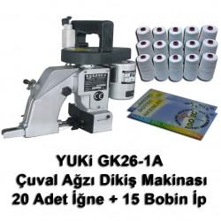 YUKI - Yuki GK26-1A Çuval Ağzı Dikiş Makinası + 20 Adet İğne + 15 Bobin İp