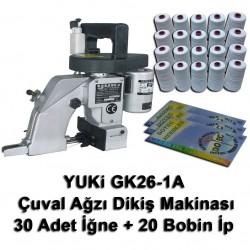 YUKI - Yuki GK26-1A Çuval Ağzı Dikiş Makinası + 30 Adet İğne + 20 Bobin İp