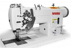 YUKI - Yuki YK-8750C-003 Çift İğne B Mekik İptalli Kilit Dikiş Mikro Yağlamalı (Orta Mat. İçin)