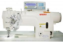 YUKI - Yuki YK-8752-805A/AH Çift İğne B Mekik İptalli İplik Kes. Kil. Dikiş Mik. Yağ. D. Drive (Juki Bıçak Sistemli)